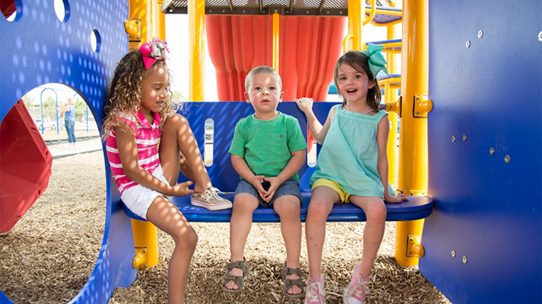 Kids on Fun Bench
