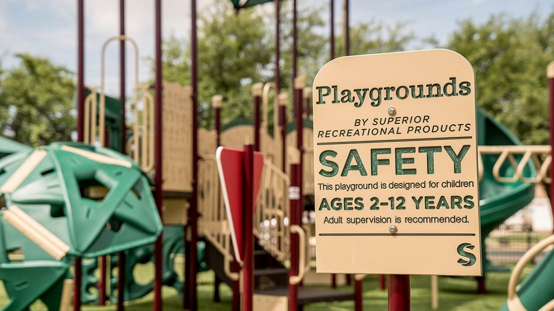 Playground Safety Sign