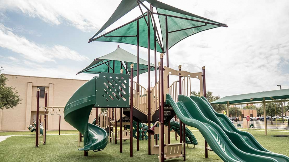 Playground with Shade Canopy