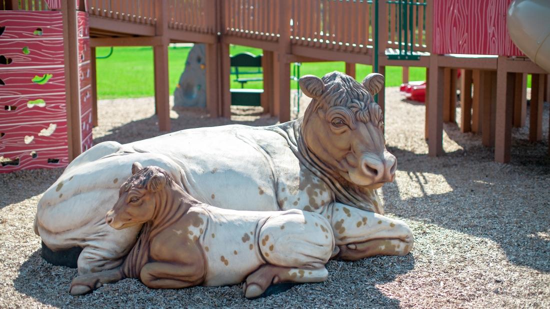 cow sculpture