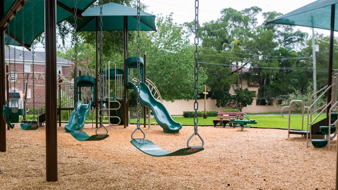 Swings on Playground