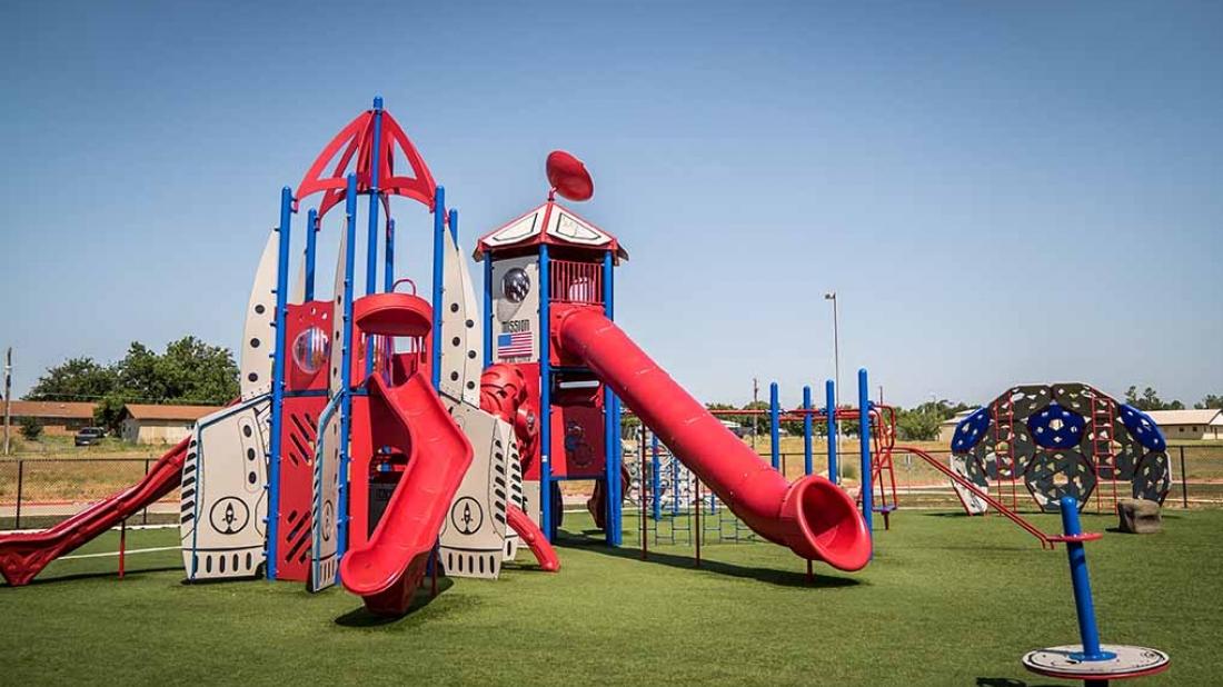 rocket themed playground colorado isd